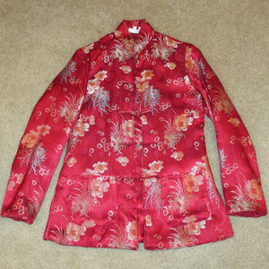 ORIENTAL STYLE RED JACKET WOMENS SIZE 4